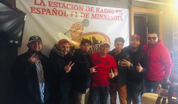 Norteñísimo Zierra Azul entrevistados en la emisora  La Raza 1400