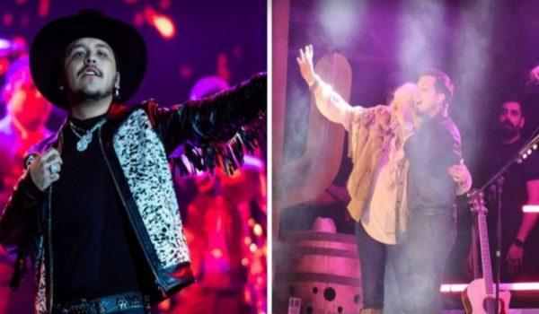 ¡Christian Nodal detiene concierto para defender a fan y la sube al escenario!